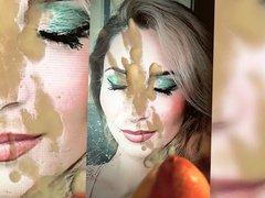 Shiny make-up, vidz closed eyes  super cum tribute