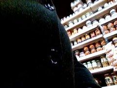 Kocalos - vidz Stroking my  super cock at the supermarket