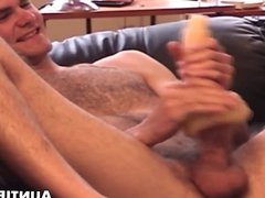 Hairy jock vidz stretches pocket  super pussy with big dick and cumshot