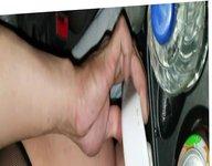 Analfunner2 sissy vidz in fishnet  super bodysuit huge dildo ride