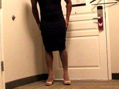 SISSY SECRETARY vidz GETTING DRESSED  super FOR WORK