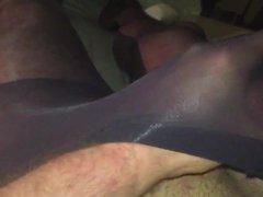 Wank in vidz sheer black  super tights.