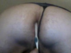 Bearded Bear vidz Chub in  super Panties Toys Ass and Cums on Belly