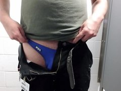 Quick Thong vidz Show and  super Stroke at Work