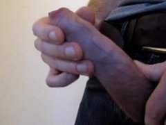 Lad showing vidz off his  super nice big uncut cock