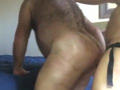 Hairy Mature vidz Man Gets  super Fuck by Strap on Dildo