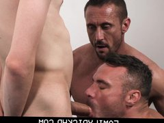 Hunk Step vidz Dad And  super His Best Friend Take Turns On Step Son
