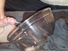 Oiled cock vidz Cum in  super bowl