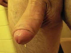 My dripping vidz wet cock  super and balls fresh out of the shower