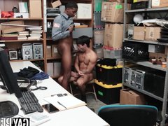 Young perp vidz punished and  super raw fucked by big cocked black guard