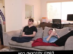 Step Dad vidz Blindfolds His  super lazy Twink Step Son And Fucks Him