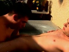 Skinny twinkie vidz receives blowjob  super and rimjob in the jacuzzi