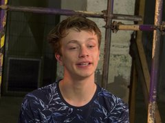 Submissive twinks vidz picked up  super and roughed up bareback