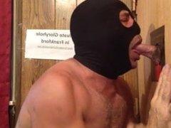 Masked Gloryhole vidz Oral Creampie