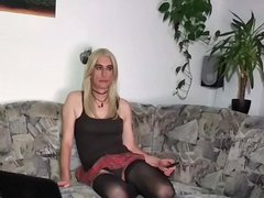 Crossdresser Tranny vidz - Transgender  super live webcam - Masturbation