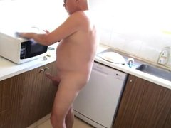 Kitchen, Nude, vidz Erect!