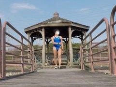 japanese cross vidz dresser public  super park walking swim suit
