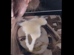 cumtribute cum vidz tribute slow  super motion on woman's face