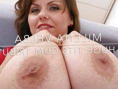 Milena Velba vidz - A  super huge tits cum tribute