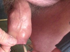 Four rubber vidz balls and  super four spoons in foreskin