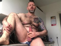 Jerking off vidz my fat  super cock in the kitchen (short edit)