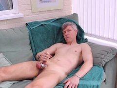 Wanking with vidz ball stretchers  super and cock rings