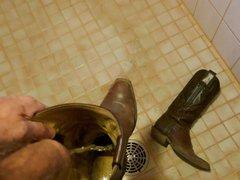 Piss in vidz wifes cowboy  super boots