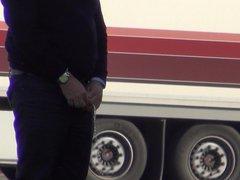 Truckers Peeing vidz in Public  super 172