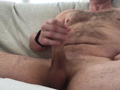 Large cock vidz erupts on  super couch