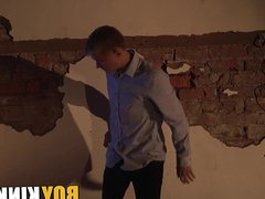 Bound young vidz twink tormented  super with clams by his kinky master