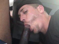 White Boy vidz Worshipping BBC  super in a car
