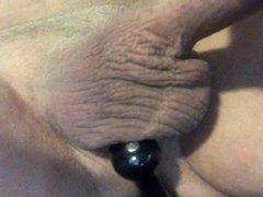 Massaging my vidz prostate with  super a toy
