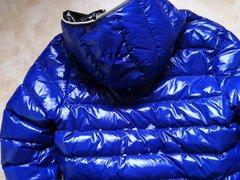 Spit on vidz blue shiny  super Duvetica Jacket