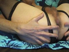 Sexy Tasha vidz Hot Hairy  super Ass Play Dildo Crossdresser Closeup