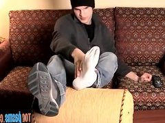 Foot fetish vidz twinky working  super slowly on his sweet dick