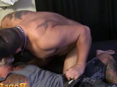 Radically tattooed vidz muscle daddy  super rimmed and barebacked