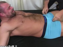 Restrained muscle vidz hunk tickled  super hard and with no mercy