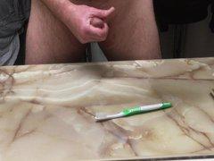 Cum on vidz Wifes toothbrush