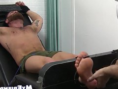 Bound hunky vidz and bearded  super dude endures tickling torment