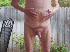 Grandpa naked vidz and playing  super on my patio