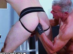 FistingCentral Boss vidz Daddy Punishes  super Hunk 4 Slacking At Work