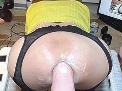 gape fart vidz with big  super dildo 2