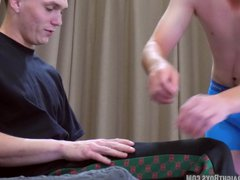 Straight Teen, vidz 18, Gets  super Spanked OTK by Another Straight Boy
