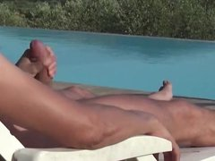 OUTDOORS WANK vidz BY THE  super POOL