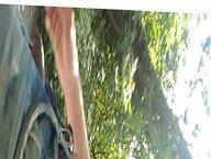 Exposing myself vidz naked in  super a park