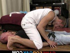 Hot gay vidz blowjob and  super sex for bald hetero hunk