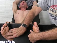 Bound amateur vidz moans while  super tickle tormented by master
