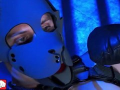 Submissive bitch vidz in a  super mask dominated and pounded anally