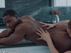 Black gay vidz stud with  super perfect ass fucks his lover passionately