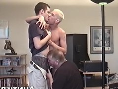 Twinks decide vidz to have  super some fun by recording a foursome